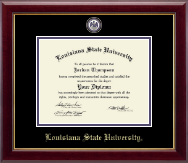 Louisiana State University Diploma Frame - Masterpiece Medallion Diploma Frame in Gallery