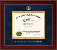 Supreme Court of the United States Certificate Frame - Presidential Masterpiece Certificate Frame in Jefferson