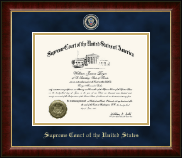 Supreme Court of the United States Certificate Frame - Masterpiece Medallion Edition Certificate Frame in Murano