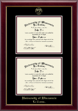 University of Wisconsin La Crosse Diploma Frame - Double Diploma Frame in Gallery