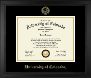 University of Colorado Boulder Diploma Frame - Gold Embossed Diploma Frame in Arena