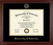 University of Colorado Boulder Diploma Frame - Gold Embossed Diploma Frame in Sierra