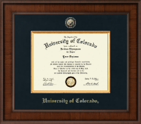 University of Colorado Boulder Diploma Frame - Presidential Masterpiece Diploma Frame in Madison