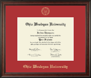 Ohio Wesleyan University Diploma Frame - Gold Embossed Diploma Frame in Studio