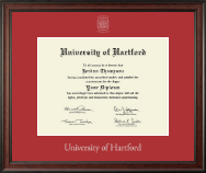 University of Hartford Diploma Frame - Silver Embossed Diploma Frame in Studio