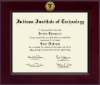 Indiana Institute of Technology Diploma Frame - Century Gold Engraved Diploma Frame in Cordova