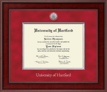 University of Hartford Diploma Frame - Presidential Silver Engraved Diploma Frame in Jefferson