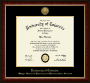 University of Colorado Boulder Diploma Frame - Gold Engraved Medallion Diploma Frame in Murano