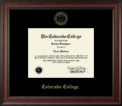 Colorado College Diploma Frame - Gold Embossed Diploma Frame in Studio