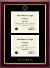 Colorado College Diploma Frame - Double Diploma Frame in Gallery