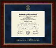 University of Pittsburgh Diploma Frame - Gold Embossed Diploma Frame in Murano