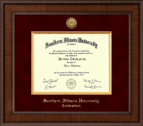 Southern Illinois University Carbondale Diploma Frame - Presidential Gold Engraved Diploma Frame in Madison