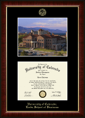 University of Colorado Boulder Diploma Frame - Campus Scene Edition Diploma Frame in Murano