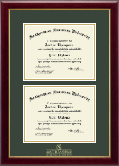 Southeastern Louisiana University Diploma Frame - Double Diploma Frame in Gallery