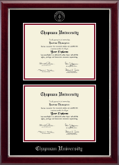 Chapman University Diploma Frame - Double Diploma Frame in Gallery Silver