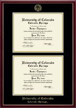 University of Colorado Colorado Springs Diploma Frame - Double Diploma Frame in Galleria