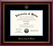 The University of Maine Orono Diploma Frame - Gold Embossed Diploma Frame in Gallery