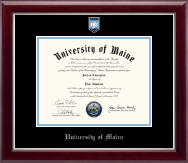The University of Maine Orono Diploma Frame - Pewter Masterpiece Medallion Diploma Frame in Gallery Silver