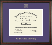 East Carolina University Diploma Frame - Gold Embossed Diploma Frame in Studio