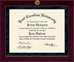 East Carolina University Diploma Frame - Millennium Gold Engraved Diploma Frame in Cordova