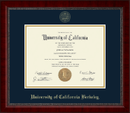 University of California Berkeley Diploma Frame - Gold Embossed Diploma Frame in Sutton