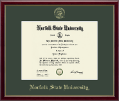 Norfolk State University Diploma Frame - Gold Embossed Diploma Frame in Galleria