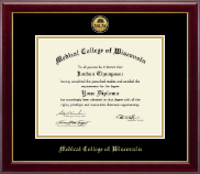 Medical College of Wisconsin Diploma Frame - Gold Engraved Medallion Diploma Frame in Gallery