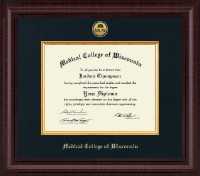 Medical College of Wisconsin Diploma Frame - Presidential Gold Engraved Diploma Frame in Premier