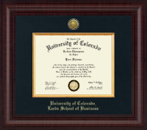 University of Colorado Boulder Diploma Frame - Presidential Gold Engraved Diploma Frame in Premier