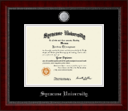Syracuse University Diploma Frame - Silver Medallion Diploma Frame in Sutton