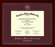 Southern Illinois University Carbondale Diploma Frame - Silver Embossed Diploma Frame in Sutton
