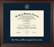 The George Washington University Diploma Frame - Gold Embossed Diploma Frame in Studio