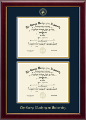 The George Washington University Diploma Frame - Double Diploma Frame in Gallery