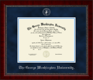 The George Washington University Diploma Frame - Silver Embossed Diploma Frame in Sutton