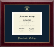 Macalester College Diploma Frame - Gold Embossed Diploma Frame in Gallery