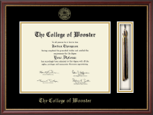 The College of Wooster Diploma Frame - Tassel Edition Diploma Frame in Newport
