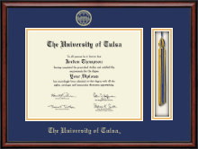 The University of Tulsa Diploma Frame - Tassel Edition Diploma Frame in Southport