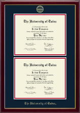 The University of Tulsa Diploma Frame - Double Diploma Frame in Gallery