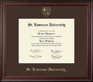 St. Lawrence University Diploma Frame - Gold Embossed Diploma Frame in Studio