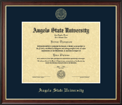 Angelo State University Diploma Frame - Gold Embossed Diploma Frame in Studio Gold