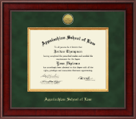 Appalachian School of Law Diploma Frame - Presidential Gold Engraved Diploma Frame in Jefferson