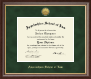 Appalachian School of Law Diploma Frame - Gold Engraved Medallion Diploma Frame in Hampshire