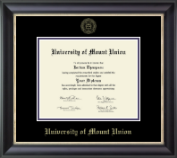 University of Mount Union Diploma Frame - Gold Embossed Diploma Frame in Noir