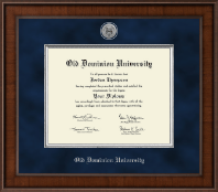 Old Dominion University Diploma Frame - Presidential Silver Engraved Diploma Frame in Madison