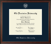Old Dominion University Diploma Frame - Silver Embossed Diploma Frame in Studio
