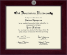 Old Dominion University Diploma Frame - Century Silver Engraved Diploma Frame in Cordova