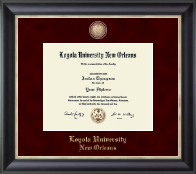Loyola University New Orleans Diploma Frame - Masterpiece Medallion Diploma Frame in Noir