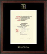 Pitzer College Diploma Frame - Gold Embossed Diploma Frame in Studio