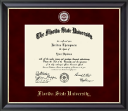 Florida State University Diploma Frame - Masterpiece Medallion Diploma Frame in Noir