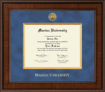 Marian University in Wisconsin Diploma Frame - Presidential Gold Engraved Diploma Frame in Madison